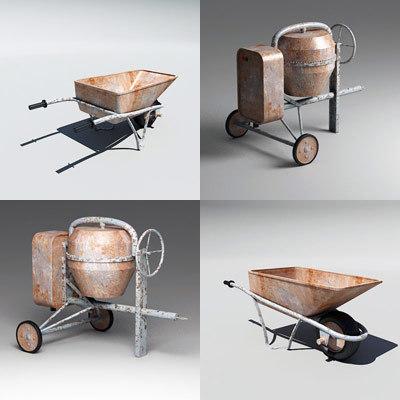 Cement Mixer & Wheel Barrow T