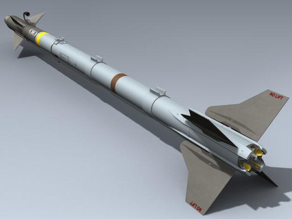 aim 9x sidewinder 3d model
