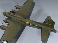b-17f flying fortress memphis 3d model