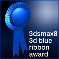 blue ribbon 3d model