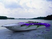 3d model fast boat