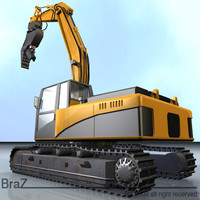 Hydraulic Excavators with demolition bucket