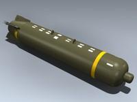 3d model of cbu-87 cluster bomb