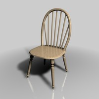 cinema4d wooden chair
