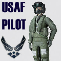 US Air Force F35AA1 Pilot MAX 9 Rigged