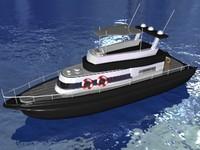 3dsmax luxury motorboat