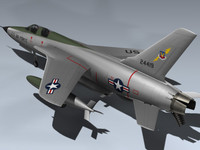 f-105f thunderchief 3d max