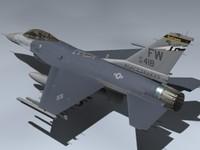 3d f-16c falcon block 25 model
