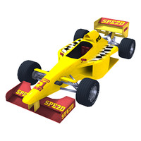 low poly f1 racing car