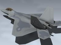 f-22a raptor 3d model