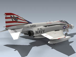 f-4n phantom ii vf-151 3d max - F-4N Phantom II (VF-151)... by Mesh Factory