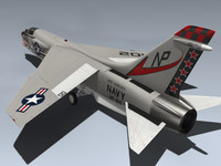 3d f-8j crusader fighter model