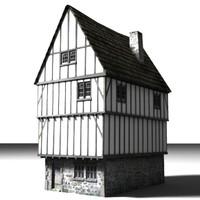 3d medieval building model