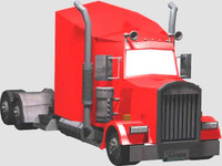 long truck 3d model
