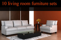 3d 10 living room furniture model