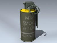 3d m18 smoke grenade