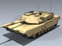 3d model m1a2 abrams army tank