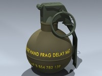 3d m67 hand grenade