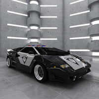 countach police 3d max