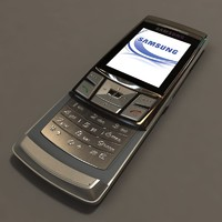 3d obj samsung mobile phone sgh-d840
