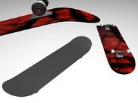 board skate skateboard 3d model