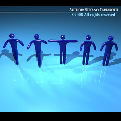 stilized figures 3ds - Stilized figures... by tartino
