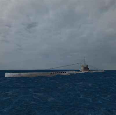 3ds german submarine ww1 1 - Submarine U-21 (WW1 U-boat)... by Chrisz3D