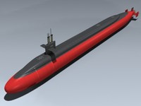 uss ohio submarine 3d model