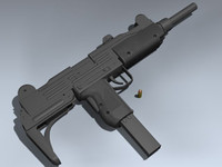 3d 3ds uzi 9mm smg