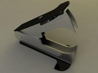 3d model of staple remover