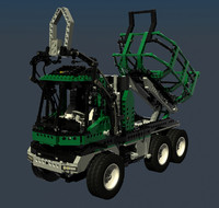lego technic set barcode 3d model
