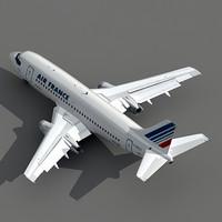 737-200 plane air france 3d max