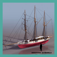 amphitrite sailboat ship 3d model