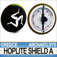 3d model greek hoplite shield greekhopliteshielda