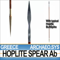 Greek Hoplite Spear Model Ab - ARCHAEO.SYS 3D