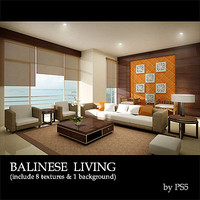 3ds max condominium living room balinese