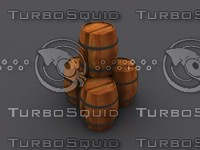 3d barrels model