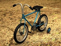 children bicycle c4d