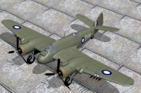 3d bristol beaufighter