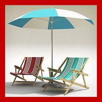 Beach Chair and Umbrella