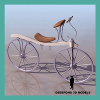 3d dennis johnson antique bicycle model