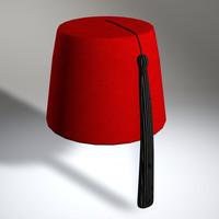 3d fez hat model