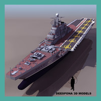 3d kiev russian aircraft carrier