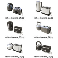 6 Kettle and Toaster sets
