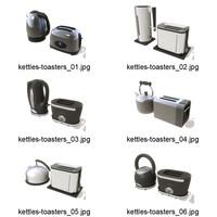 3d kettles toaster model