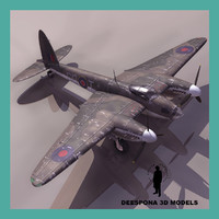 3ds max haviland mosquito raf british
