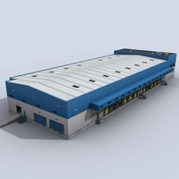 modular logistics building 1 3ds