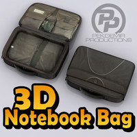 3d model notebook bag