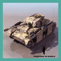 3d model panzerkampfwagen iv panzer german tank