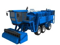 3d combine vegetable harvester